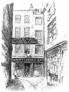 """Gaststätte """"Goose and Gridiron"""" – Gründungsort der Ersten Großloge der Freimaurerei in London."""