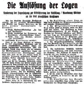 """Quelle: Hannoverscher Kurier, Zeitung für Norddeutschland Reichs-Ausgabe Nr. 25/26 86. Jahrgang vom Mittwoch, den 17.01.1934 (deshalb gemeinfrei) Nachdruck in """"Zeitzeugen"""" Nr. 6."""