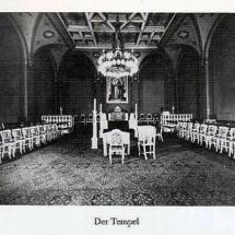 Freimaurerischer Tempel in Hannover um 1920.