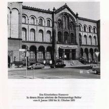Das Künstlerhaus in Hannover. In diesem Hause arbeitete die Freimaurerloge Baldur vom 8. Januar 1950 bis 31. Oktober 1951.