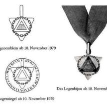 Logenemblem und Logenbijou der Loge Baldur ab 1979.