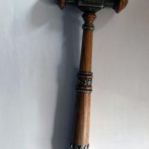 Hammer des Meisters vom Stuhl der Freimaurerloge Baldur.