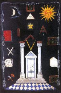 Die Symbole auf dem Arbeitsteppich.